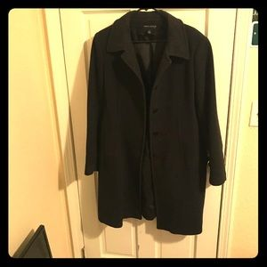 black womans anne klein wool overcoat size 12